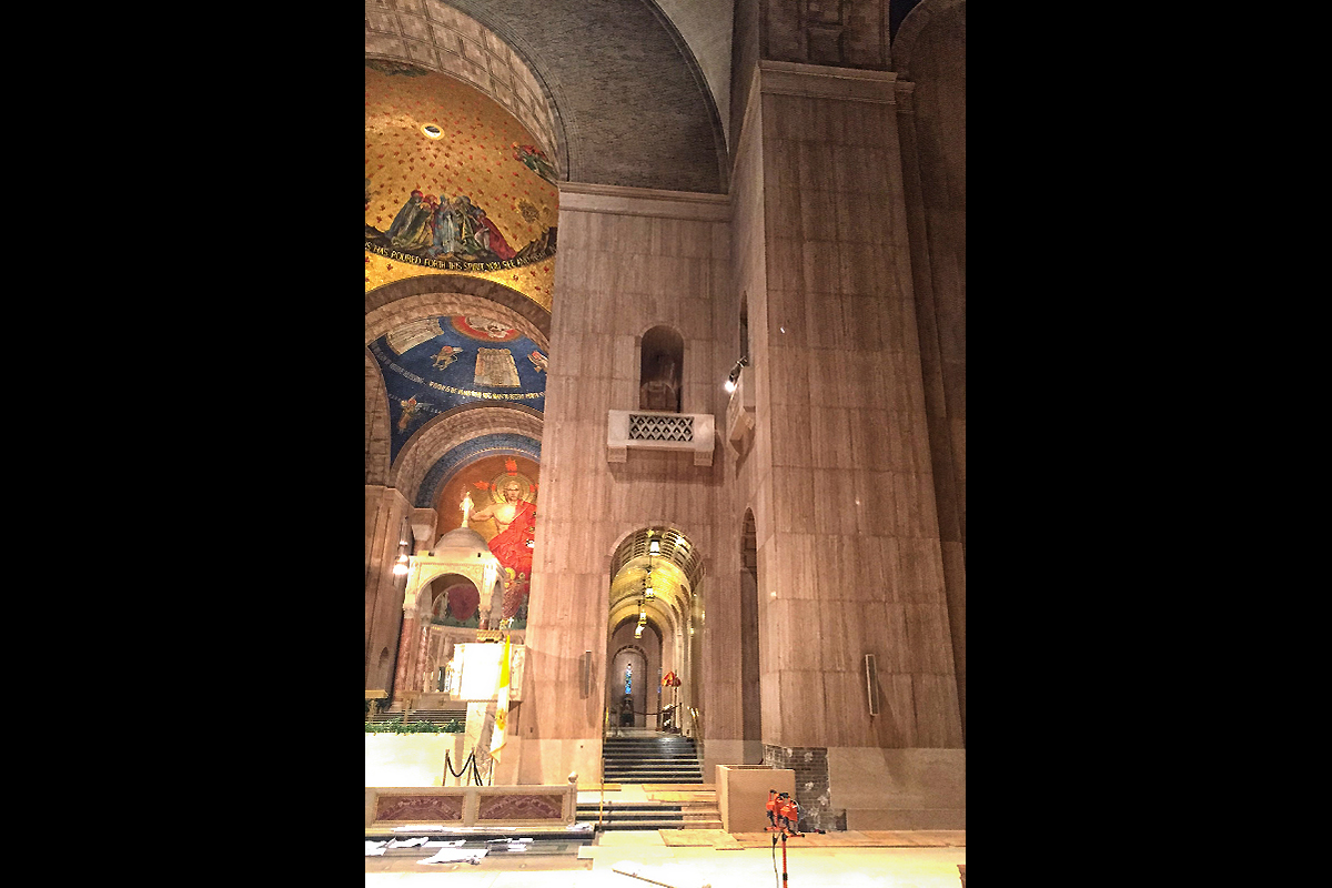 Basilica of the National Shrine of the Immaculate Conception, Washington, D.C, USA, 2015 - 2017 | Rivestimenti pareti in travertino su honeycomb
