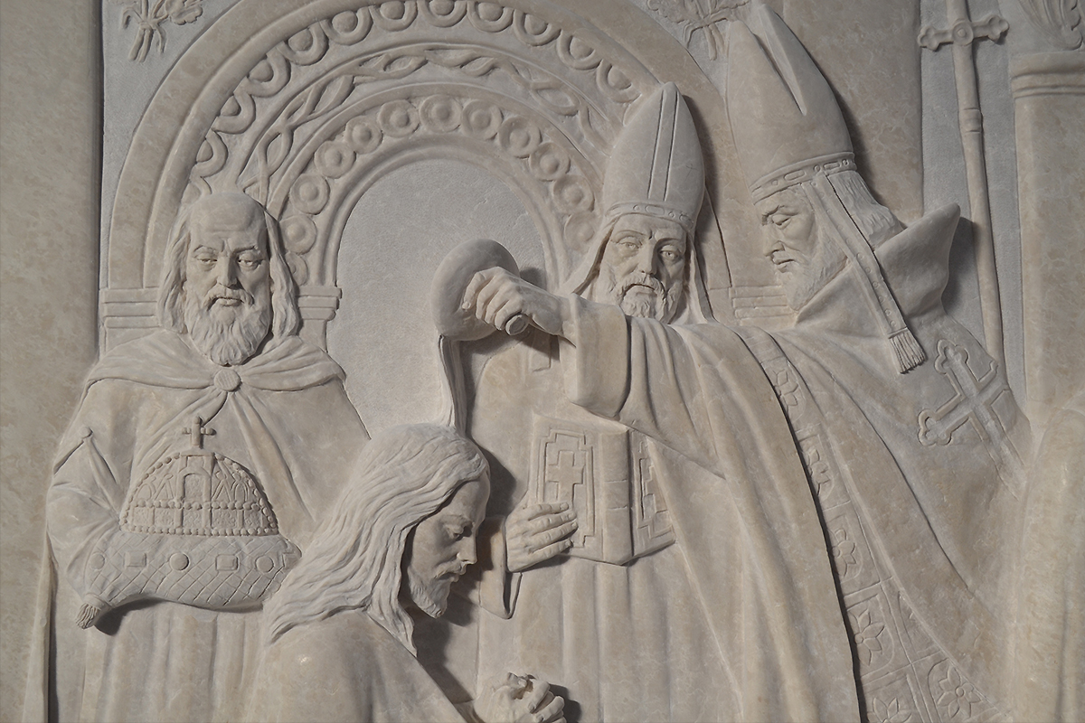 Basilica of the National Shrine of the Immaculate Conception, Washington, D.C, USA, 2015 - 2017 | Bassorilievo in botticino