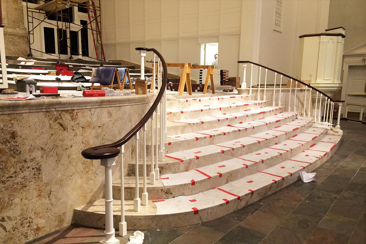 St.Luke United Metodist Church, Houston, Texas, 2016 | Rivestimento scala