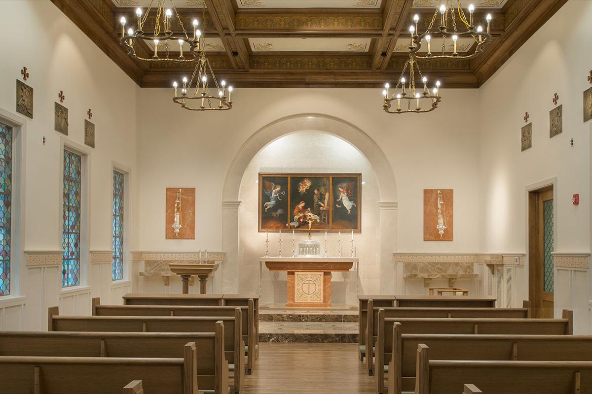 The Sheridan Residences and Study center, Houston, Texas, 2015 | Altare, mensole e rivestimenti murari